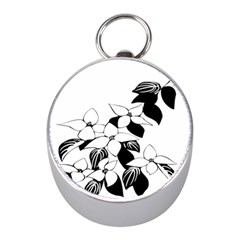 Ecological Floral Flowers Leaf Mini Silver Compasses by Nexatart