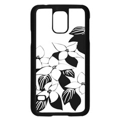 Ecological Floral Flowers Leaf Samsung Galaxy S5 Case (black) by Nexatart