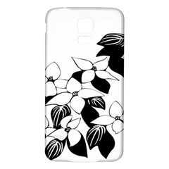 Ecological Floral Flowers Leaf Samsung Galaxy S5 Back Case (white)