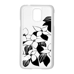 Ecological Floral Flowers Leaf Samsung Galaxy S5 Case (white) by Nexatart