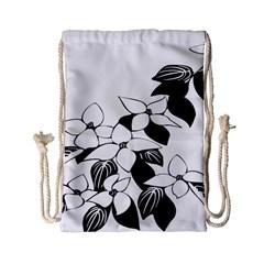 Ecological Floral Flowers Leaf Drawstring Bag (small)