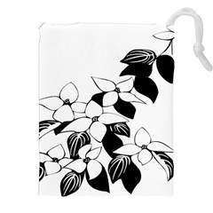 Ecological Floral Flowers Leaf Drawstring Pouches (xxl)