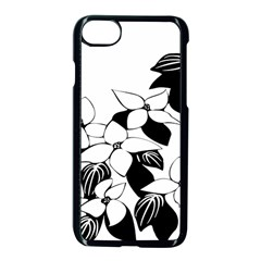 Ecological Floral Flowers Leaf Apple Iphone 7 Seamless Case (black)