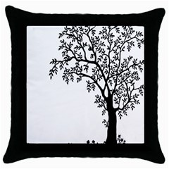 Flowers Landscape Nature Plant Throw Pillow Case (black)