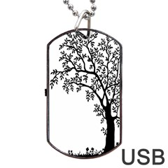 Flowers Landscape Nature Plant Dog Tag Usb Flash (two Sides)