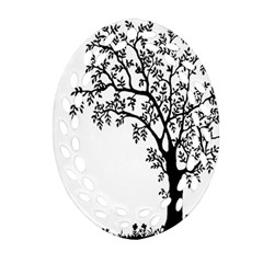Flowers Landscape Nature Plant Oval Filigree Ornament (two Sides)