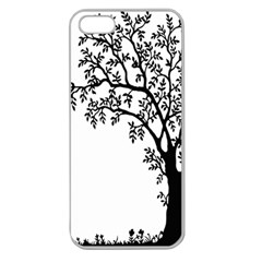 Flowers Landscape Nature Plant Apple Seamless Iphone 5 Case (clear)