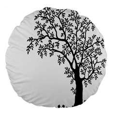 Flowers Landscape Nature Plant Large 18  Premium Round Cushions by Nexatart
