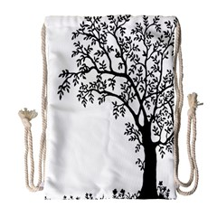 Flowers Landscape Nature Plant Drawstring Bag (large)