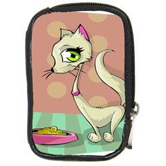 Cat Food Eating Breakfast Gourmet Compact Camera Cases by Nexatart