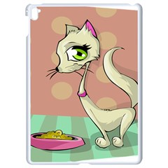 Cat Food Eating Breakfast Gourmet Apple Ipad Pro 9 7   White Seamless Case