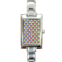Colorful Shiny Eat Edible Food Rectangle Italian Charm Watch