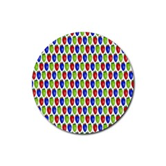Colorful Shiny Eat Edible Food Rubber Round Coaster (4 Pack)