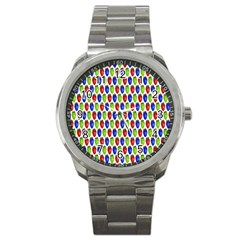 Colorful Shiny Eat Edible Food Sport Metal Watch by Nexatart