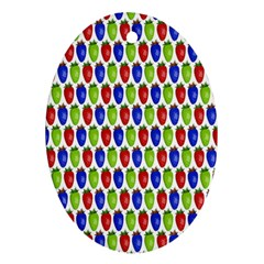 Colorful Shiny Eat Edible Food Oval Ornament (two Sides)