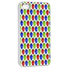Colorful Shiny Eat Edible Food Apple Iphone 4/4s Seamless Case (white)