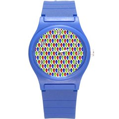 Colorful Shiny Eat Edible Food Round Plastic Sport Watch (s) by Nexatart