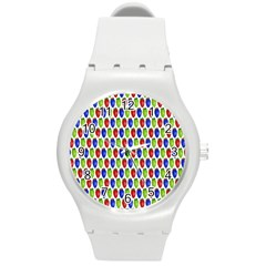Colorful Shiny Eat Edible Food Round Plastic Sport Watch (m)