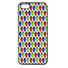 Colorful Shiny Eat Edible Food Apple Iphone 5 Seamless Case (black) by Nexatart