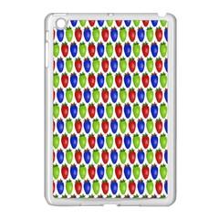 Colorful Shiny Eat Edible Food Apple Ipad Mini Case (white) by Nexatart