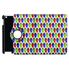 Colorful Shiny Eat Edible Food Apple Ipad 3/4 Flip 360 Case