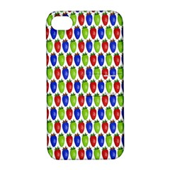 Colorful Shiny Eat Edible Food Apple Iphone 4/4s Hardshell Case With Stand