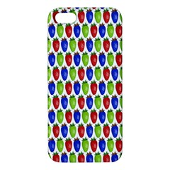 Colorful Shiny Eat Edible Food Apple Iphone 5 Premium Hardshell Case by Nexatart