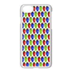 Colorful Shiny Eat Edible Food Apple Iphone 7 Seamless Case (white) by Nexatart