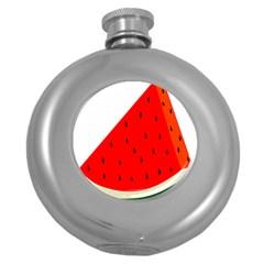 Fruit Harvest Slice Summer Round Hip Flask (5 Oz)
