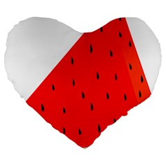 Fruit Harvest Slice Summer Large 19  Premium Flano Heart Shape Cushions