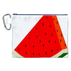 Fruit Harvest Slice Summer Canvas Cosmetic Bag (xxl) by Nexatart