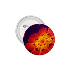 Royal Blue, Red, And Yellow Fractal Gerbera Daisy 1 75  Buttons by beautifulfractals