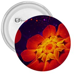 Royal Blue, Red, And Yellow Fractal Gerbera Daisy 3  Buttons by jayaprime