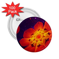 Royal Blue, Red, And Yellow Fractal Gerbera Daisy 2 25  Buttons (100 Pack)  by jayaprime