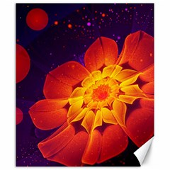 Royal Blue, Red, And Yellow Fractal Gerbera Daisy Canvas 20  X 24   by beautifulfractals