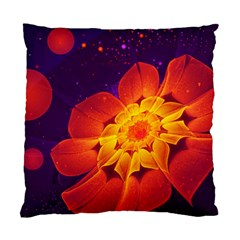 Royal Blue, Red, And Yellow Fractal Gerbera Daisy Standard Cushion Case (two Sides) by jayaprime