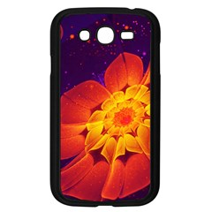 Royal Blue, Red, And Yellow Fractal Gerbera Daisy Samsung Galaxy Grand Duos I9082 Case (black) by jayaprime