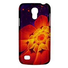 Royal Blue, Red, And Yellow Fractal Gerbera Daisy Galaxy S4 Mini by beautifulfractals