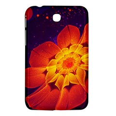 Royal Blue, Red, And Yellow Fractal Gerbera Daisy Samsung Galaxy Tab 3 (7 ) P3200 Hardshell Case  by jayaprime