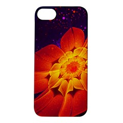 Royal Blue, Red, And Yellow Fractal Gerbera Daisy Apple Iphone 5s/ Se Hardshell Case by beautifulfractals