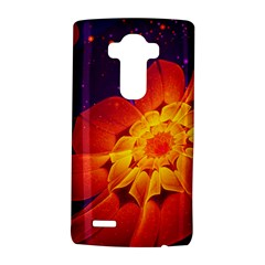 Royal Blue, Red, And Yellow Fractal Gerbera Daisy Lg G4 Hardshell Case by jayaprime