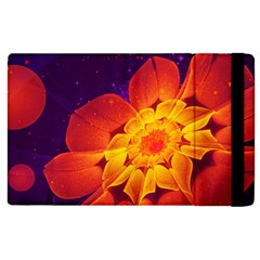 Royal Blue, Red, And Yellow Fractal Gerbera Daisy Apple Ipad Pro 9 7   Flip Case by jayaprime
