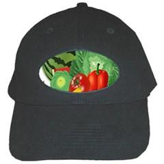 Fruits Vegetables Artichoke Banana Black Cap by Nexatart