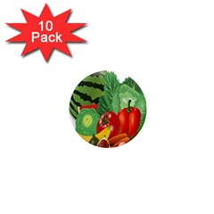 Fruits Vegetables Artichoke Banana 1  Mini Magnet (10 Pack)  by Nexatart