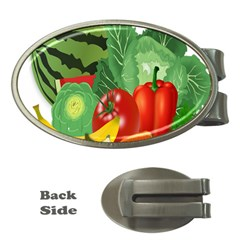Fruits Vegetables Artichoke Banana Money Clips (oval)