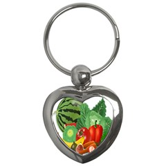 Fruits Vegetables Artichoke Banana Key Chains (heart)