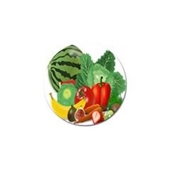 Fruits Vegetables Artichoke Banana Golf Ball Marker (10 Pack) by Nexatart