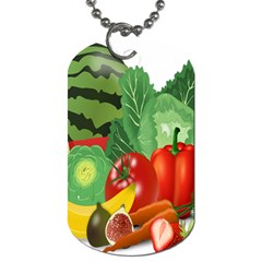 Fruits Vegetables Artichoke Banana Dog Tag (two Sides)