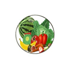 Fruits Vegetables Artichoke Banana Hat Clip Ball Marker (4 Pack) by Nexatart