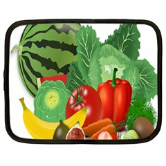 Fruits Vegetables Artichoke Banana Netbook Case (large)